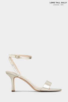 Long Tall Sally Gold Skinny Two Part Heel Sandals