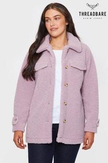 Threadbare lilac Kaila Oversized Brushed Borg Jacket