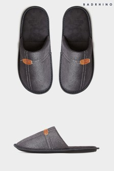 BadRhino Black Mule Slippers