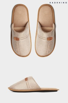BadRhino Brown Mule Slippers