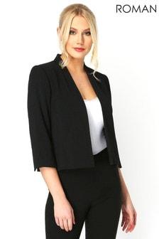 Roman Black 3/4 Sleeve Rochette Jacket