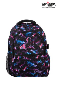 Smiggle Black Galaxy Attach Backpack