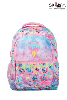 Smiggle Pink Galaxy Attach Backpack