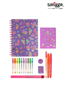 Smiggle Purple Essentials A5 Stationery Kit