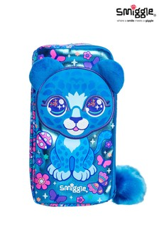 Smiggle Blue Budz Character Two Pocket Pencil Case