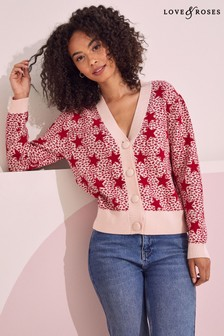 Love & Roses Multi Leopard Star Cardigan