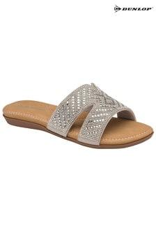 Dunlop Silver Ladies' Slide Sandals