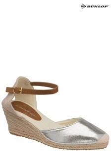 Dunlop Silver Ladies' Wedge Sandals