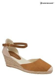 Dunlop Tan Ladies' Wedge Sandals