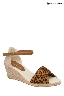 Dunlop leopard Ladies' Wedge Sandals
