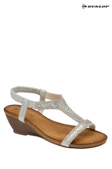 Dunlop silver Ladies' Open Toe Sandals