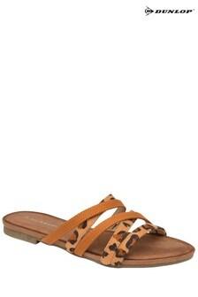 Dunlop tan Ladies' Open Toe Sandals