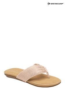 Dunlop Rose Gold Ladies' Toe Post Sandals