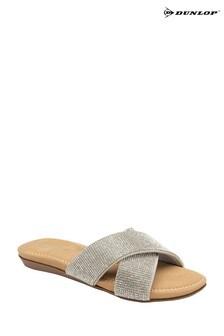 Dunlop Silver Ladies' Mule Sandals