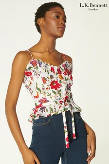 LK Bennet Frenchi Romance Floral Strapy Top