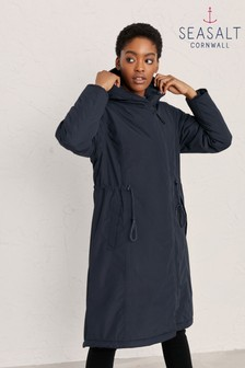 Seasalt Cornwall Blue Pentewan Coat