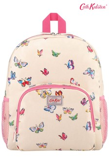 Cath Kidston Kids Cream Pocket Butterflies Classic Large Backpack With Mesh