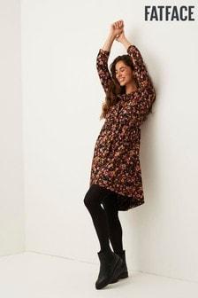 FatFace Black Nina Scatter Jersey Dress