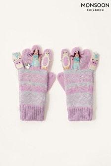 Monsoon Pink Freda Winter Friends Gloves