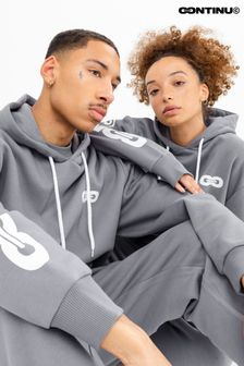 Continu8 Unisex Charcoal Oversized Hoodie