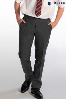 Trutex Grey Senior Boys Slim Leg School Trousers