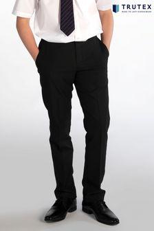 Trutex Senior Boys Black Slim Leg School Trousers