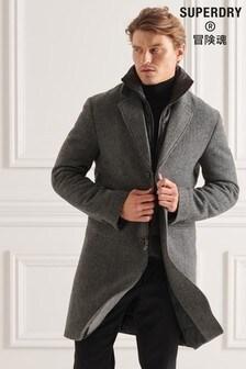 Superdry Studios Wool Padded Town Coat