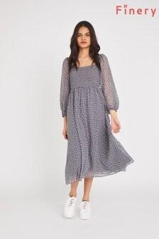 Finery Grey Melanie Midi Dress