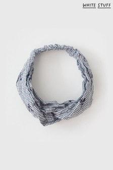 White Stuff Black Embroidered Twist Headband