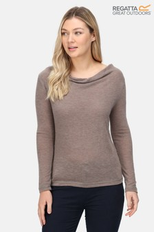 Regatta Frayda Cowl Neck Long Sleeve T-Shirt