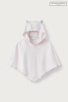 The White Company Toddler Pink Knitted Poncho