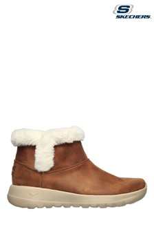 Skechers Brown On The Go Joy Endeavor Ankle Boots