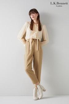 L.K.Bennett Amy Casual Tencel Pleat Front Trousers