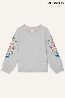 Monsoon Floral Embroidered Sweatshirt