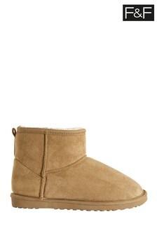 F&F Natural Snug Microfibre Boots