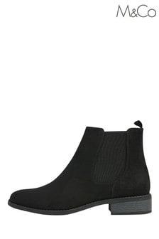M&Co Suedette Chelsea Flat Boots