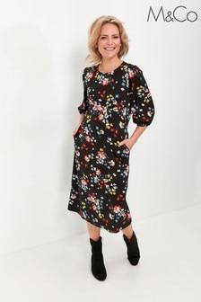 M&Co Petite Petite bright floral dress
