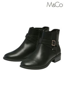 M&Co Mid Heel Ankle Boots With Buckle Detail