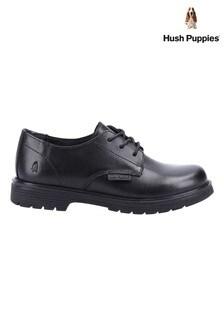 Hush Puppies Black Remi Senior School Shoes