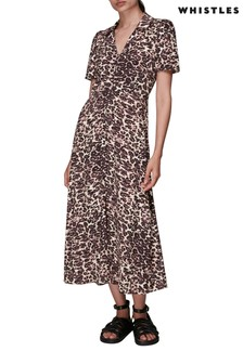 Whistles Rowan Clouded Leopard Dress