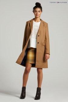 Tommy Hilfiger Camel Wool Blend Coat