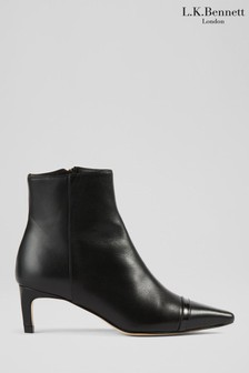 L.K.Bennett Diana Set Back Heel Colourblock Boots