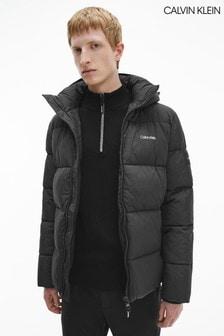 Calvin Klein Black Crinkle Puffa Jacket