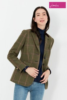 Joules Green Gillingham Fitted Hacking Jacket