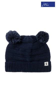 Joules Newborn Boys Blue Pom Pom Knitted Hat