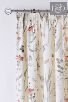 D&D Pink Spring Glade Curtains