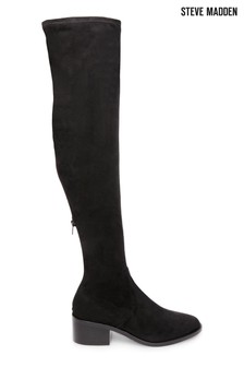 Steve Madden Black Georgette Boots