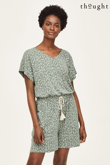 Thought Rue Bamboo Short Sleeve Floral Playsuit
