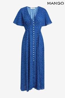 Mango Polka Dot Midi Dress