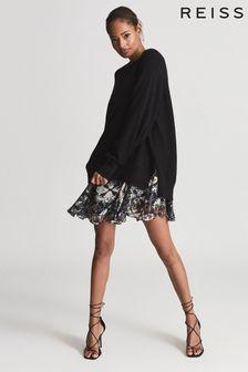 Reiss MIA 2-in-1 Fine-knit Jumper & Printed Dress